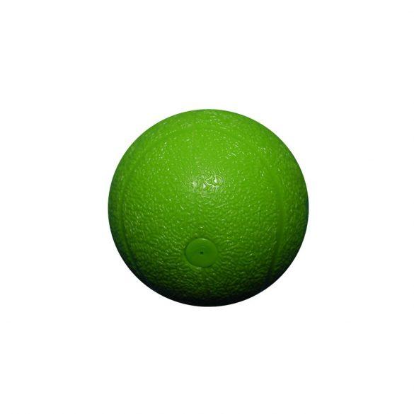 Zöld, kemény, műanyag labda