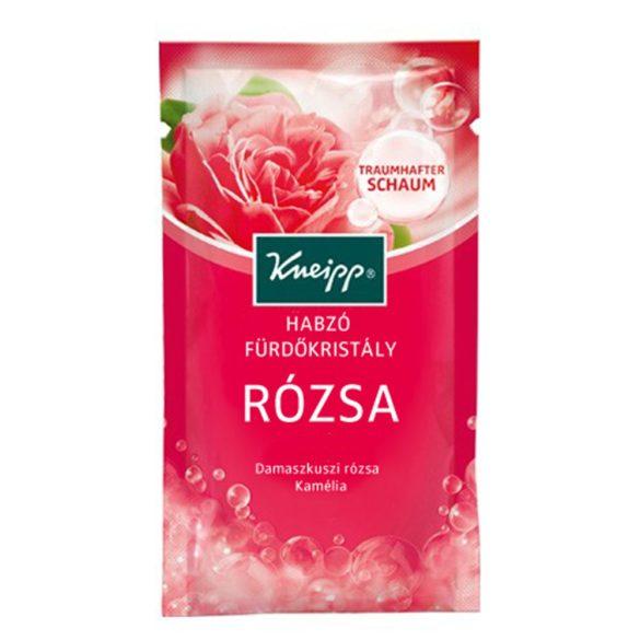 Rózsa habzó fürdőkristály 80g