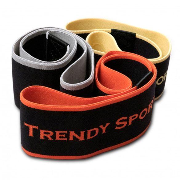 Trendy textil gumigyűrű - közepes